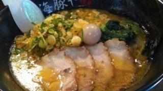 【西新】海豚や(豚骨醤油にチー油のラーメン)