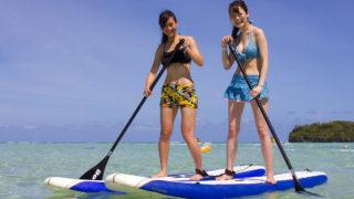 話題のSUP!唐津の海に美女たちが集合。いったい何が?