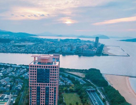 福岡タワー夕日