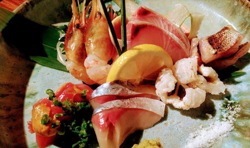 金魚(刺身盛り合わせ)