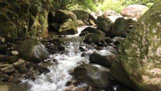 福岡の川遊びスポット「南畑公園」筑紫耶馬渓(釣垂峡)バーベキューや紅葉も楽しめる