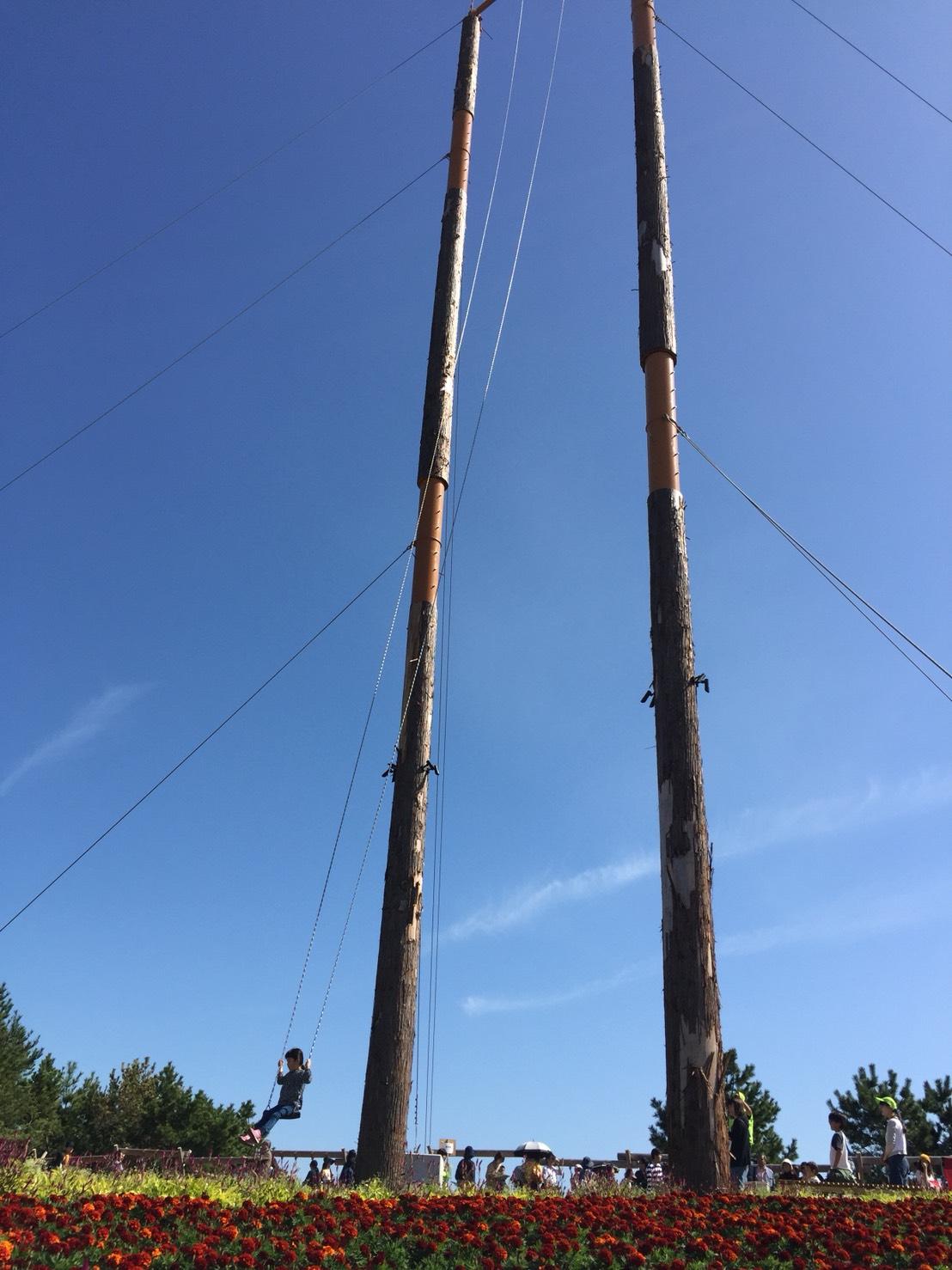 日本一長い木のブランコ