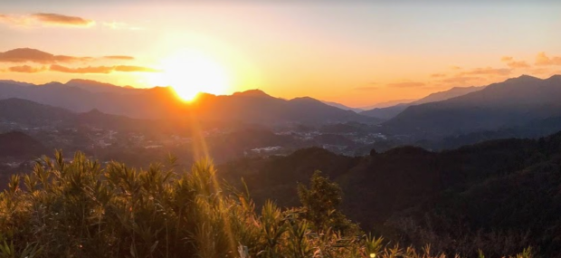 国見ケ丘の夕日