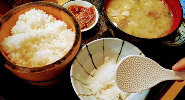 笠 豚汁定食