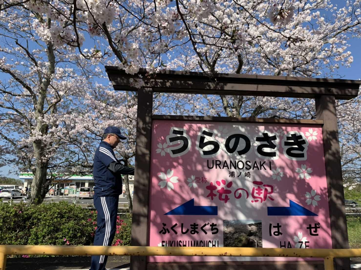 桜の駅「浦ノ崎駅」ホーム