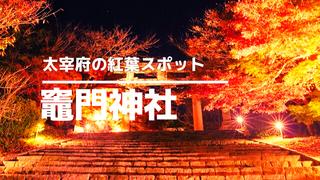 太宰府市の紅葉スポット竈門神社サムネイル
