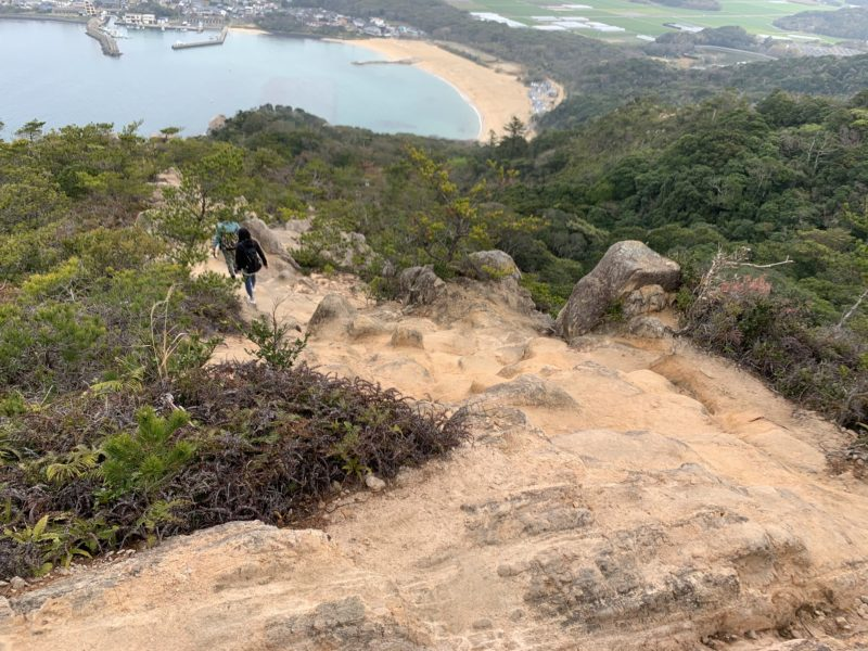 立石山 登山道